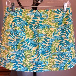 Lilly Pulitzer vintage alligator print skirt